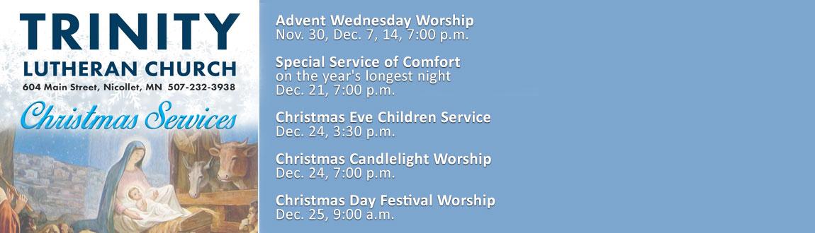 Christmas 2016 Schedule